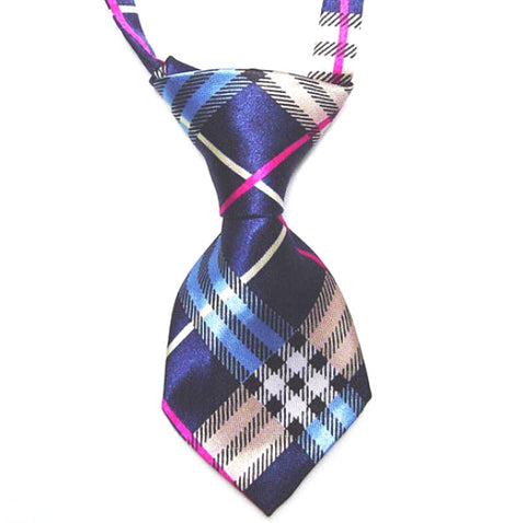 HelloDefiance, Blue & White Check-Stripes Dog Tie, best, HelloDefiancecheap