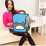 HelloDefiance, Blue School Style - 2D Bag, best, HelloDefiancecheap