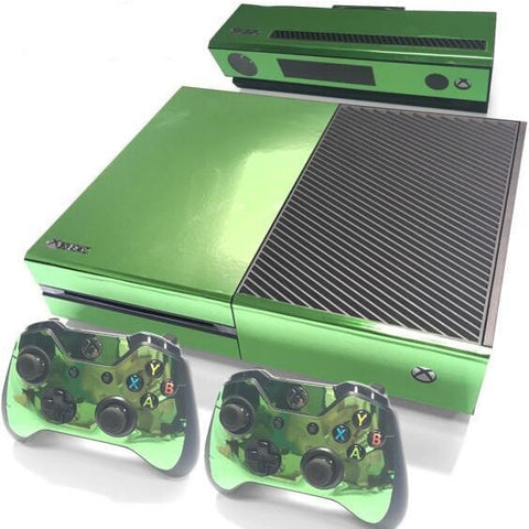 HelloDefiance, Green Chrome Skin - Xbox One Protector, best, HelloDefiancecheap