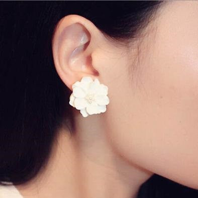 HelloDefiance, Big White Flower Earrings, best, HelloDefiancecheap