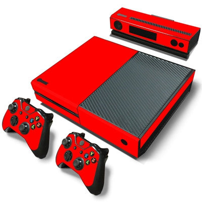 HelloDefiance, Red Basic Colors Skin - Xbox One Protector, best, HelloDefiancecheap
