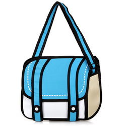 HelloDefiance, Blue Two-Strap Buttoned - 2D Bag, best, HelloDefiancecheap