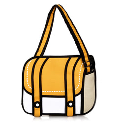 HelloDefiance, Light Orange Two-Strap Buttoned - 2D Bag, best, HelloDefiancecheap