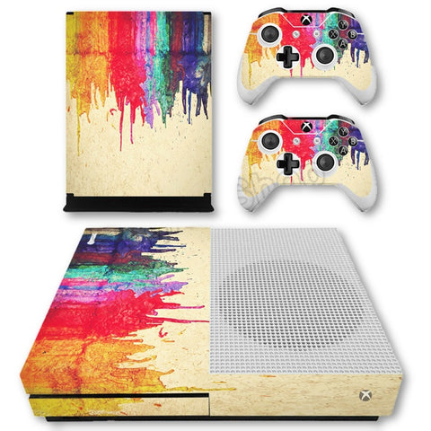 HelloDefiance, Bleeding Colors Skin - Xbox One Slim Protector, best, HelloDefiancecheap
