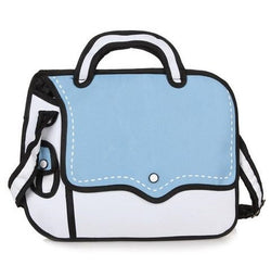 Light Blue Bold Handbag - 2D Bag