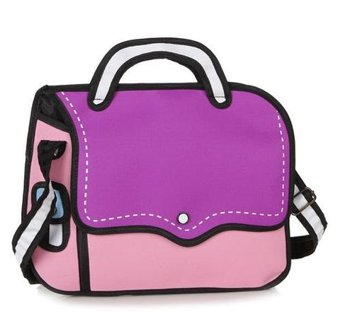 Purple Bold Handbag - 2D Bag