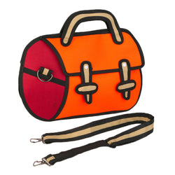 HelloDefiance, Orange Utility w/ Removable Strap - 2D Bag, best, HelloDefiancecheap
