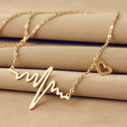 Heart Waves Necklace