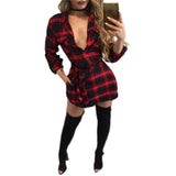 Plaid Flannel Dress w/ Sash