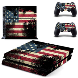 Worn Flag Skin - PS4 Protector