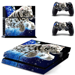 White Tiger Skin - PS4 Protector