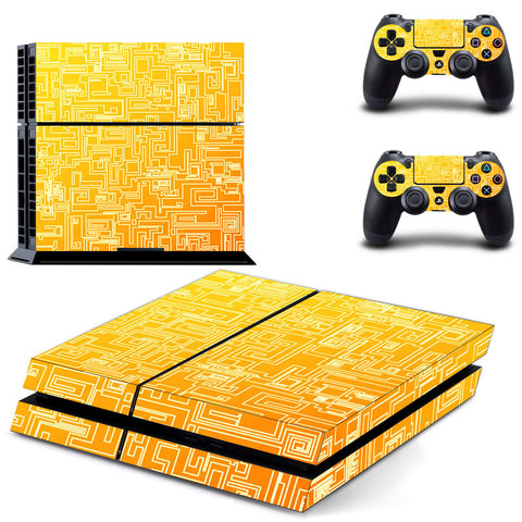 Gold Circuit Skin - PS4 Protector