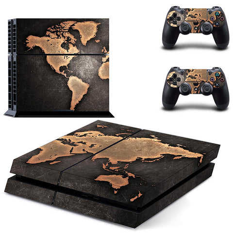 World Map Skin - PS4 Protector