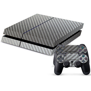 Silver Carbon Fiber Skin - PS4 Protector