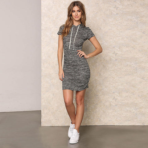CoolSummerz - Charcoal Hoodie Dress
