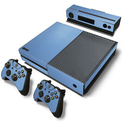 Light Blue Carbon Fiber Skin - Xbox One Protector