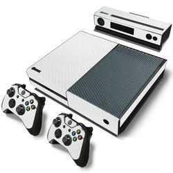 White Carbon Fiber Skin - Xbox One Protector