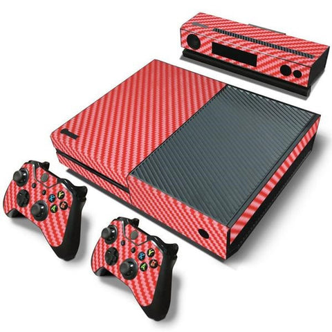 Red Carbon Fiber Skin - Xbox One Protector