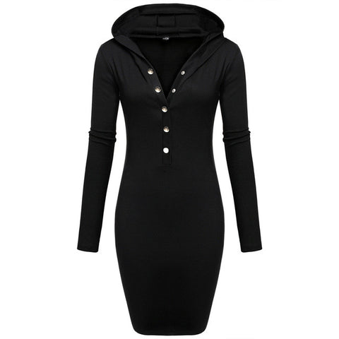 HelloDefiance, Button Up Hoodie Dress, best, HelloDefiancecheap