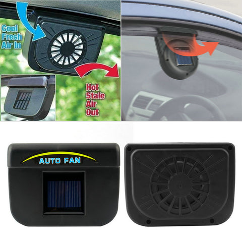 Solar Powered Hot-Air Ventilation Car Fan