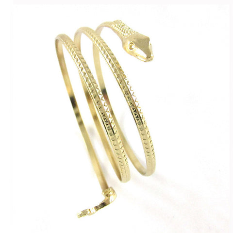 Gold Serpent Bangle Bracelet