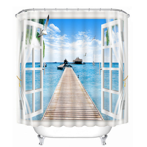 HelloDefiance, Calm Window Shower Curtain, best, HelloDefiancecheap