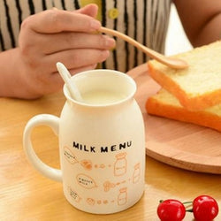 Milk Menu Breakfast Mug