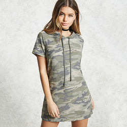 Military Urban Camo Hoodie Dress