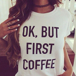 HelloDefiance, But First Coffee Tee, best, HelloDefiancecheap