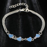 Luminous GID Heart Charm Bracelet