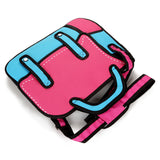 HelloDefiance, 2D Cartoon Carrier Strap Bag - Rose & Blue, best, HelloDefiancecheap