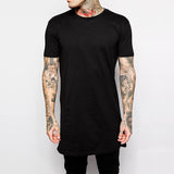 Black Casual Low-Fall T
