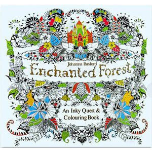 HelloDefiance, 24 Pages Drawing Book Enchanted Forest English Edition Adult Coloring Book, best, HelloDefiancecheap