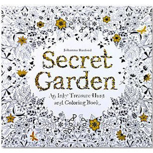 HelloDefiance, 24 Pages Drawing Book Secret Garden English Edition Adult Coloring Book, best, HelloDefiancecheap