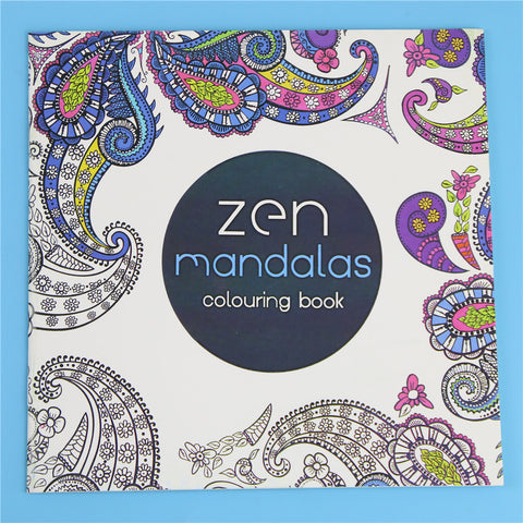 HelloDefiance, 24 Pages Zen Mandalas Flower Adult Coloring Book, best, HelloDefiancecheap