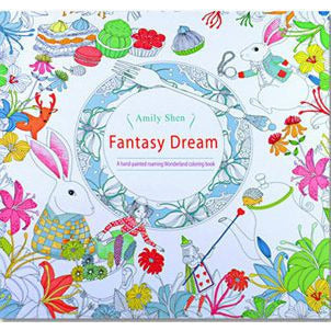HelloDefiance, 24 Pages Drawing Book Fantasy Dream English Edition Adult Coloring Book, best, HelloDefiancecheap