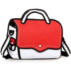 Red Bold Handbag - 2D Bag