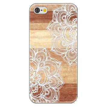 HelloDefiance, Mandala Wood Flower for iPhone 5/6/7 Models, best, HelloDefiancecheap