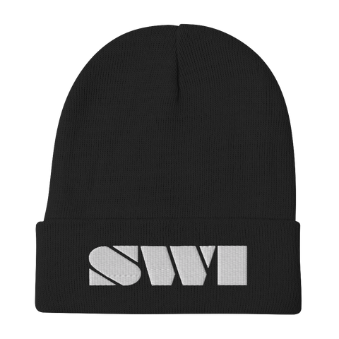 SWI Bar Embroidered Beanie