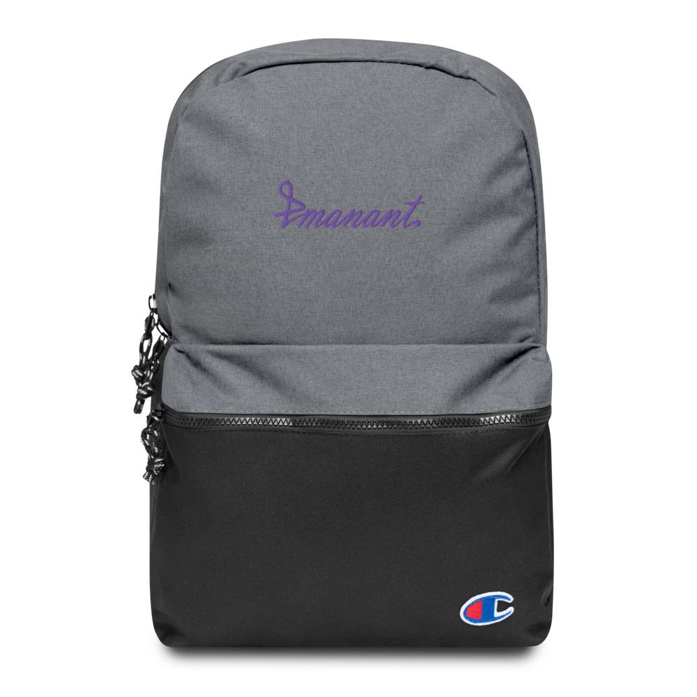 "Embroidered Champion Backpack ""Emanant"" Purple"