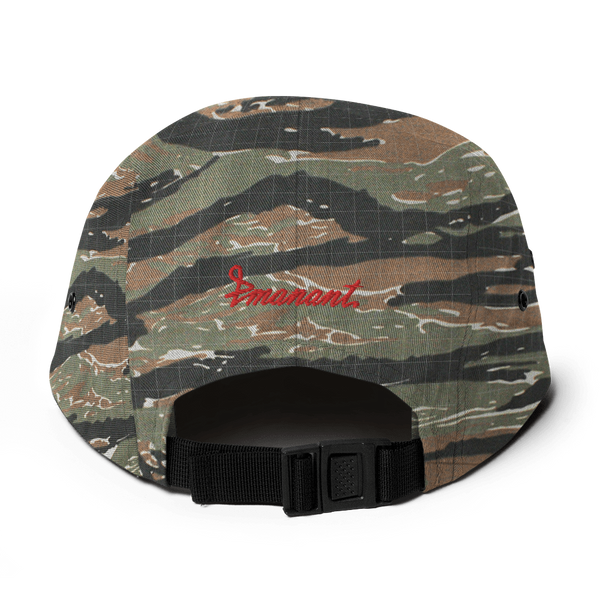 Red Bloom Five Panel Cap Camo