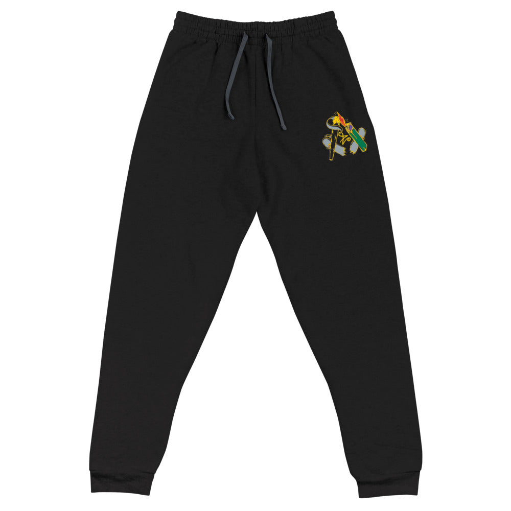 Embroidered Yellow Free Skatin' Joggers