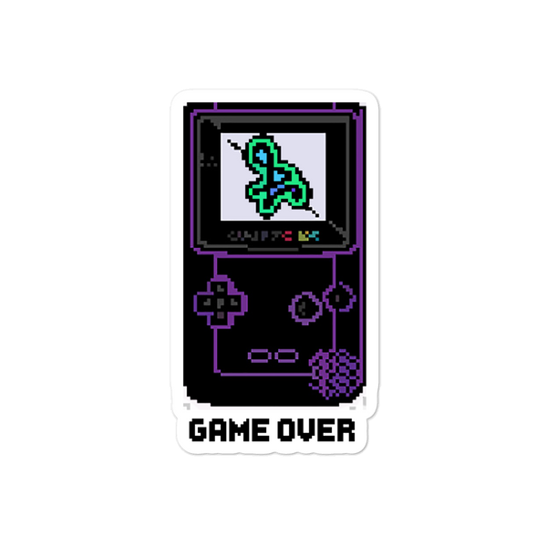 Game Over Bubble-free sticker
