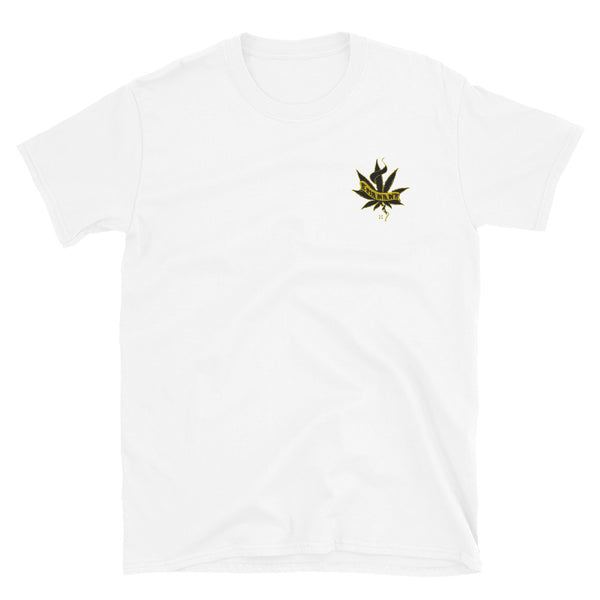 420 Leaf Embroidered T-Shirt