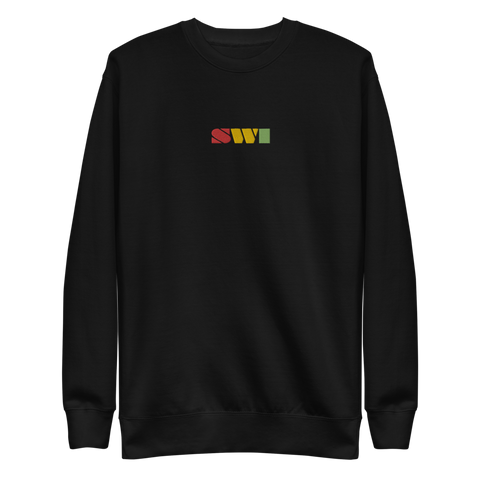 SWI Bar Rasta Embroidered Unisex Fleece Pullover