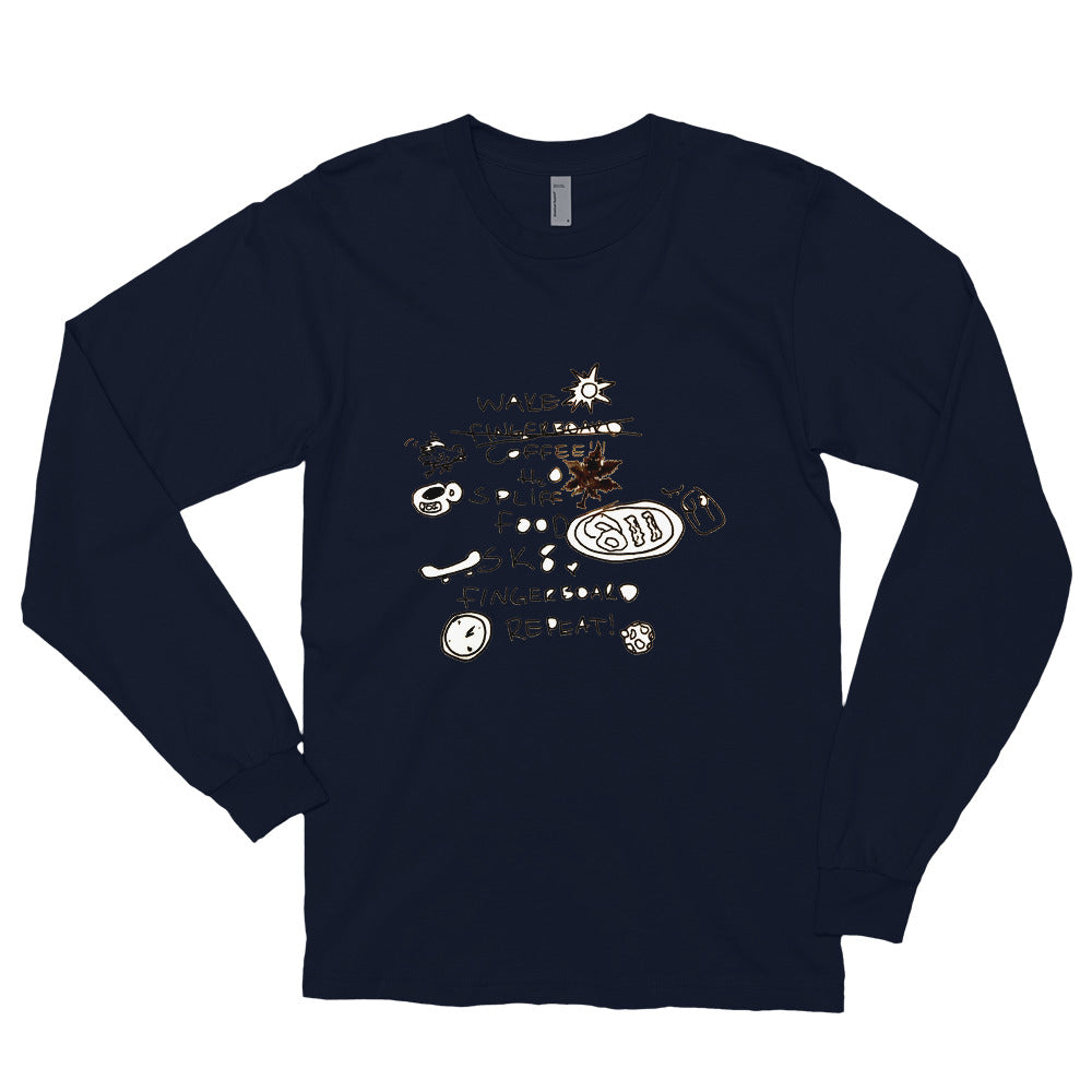 Morning Checklist Long sleeve t-shirt