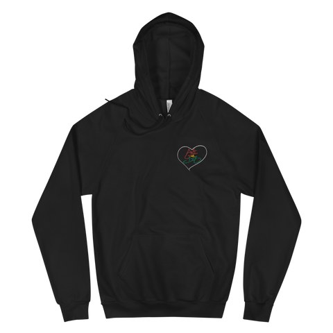 Swi or Die Rasta Embroidered Unisex Fleece Hoodie
