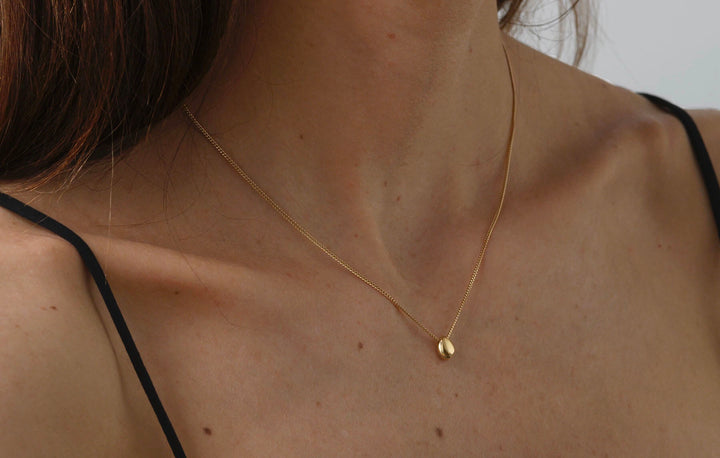 PEBBLE NECKLACE - 14K YELLOW GOLD
