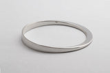 OVAL BANGLE - STERLING SILVER