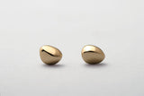 14k Yellow gold pebble studs